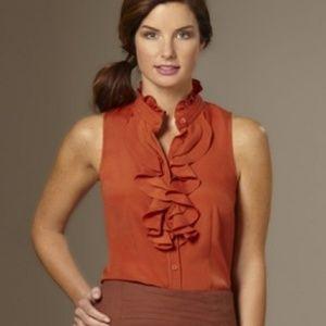J.CREW silk FRANCES cami sleeveless ruffle blouse